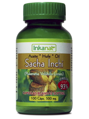 Sacha Inchi oil capsules (100 x 500 mg)