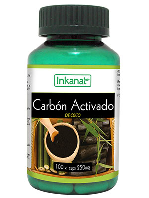 Activated Charcoal 100 capsules 250mg